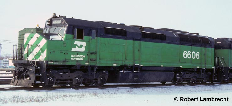 BN 6606 at Havre, Montana, March 1985