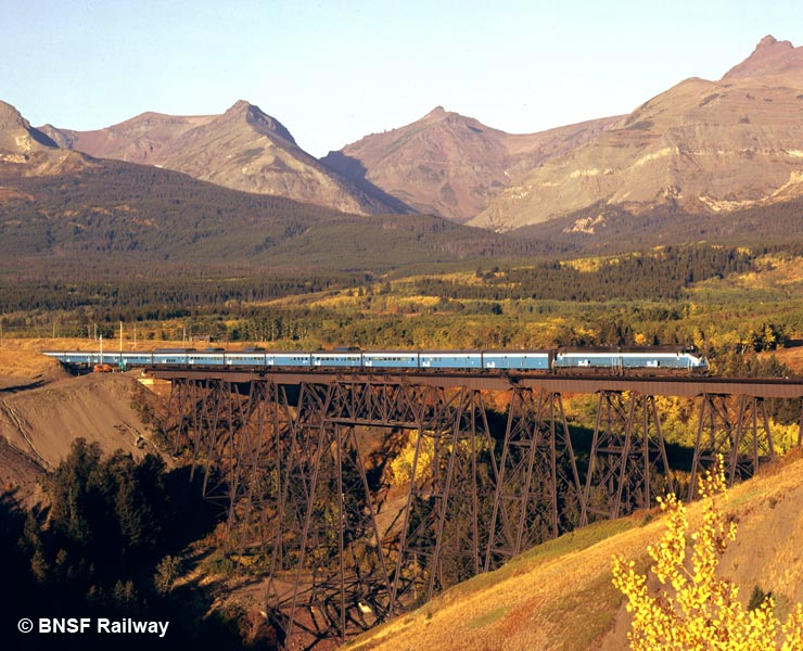 GN's Empire Builder at East Glacier, Montana