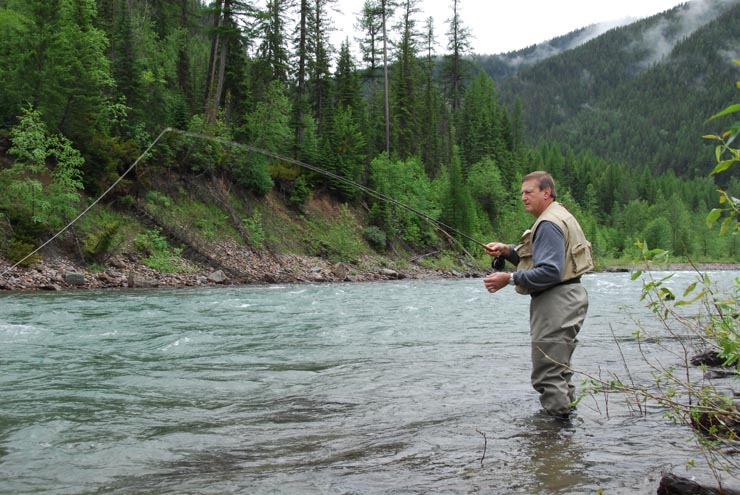 Fly fishing on the Middle Fork Flathead River