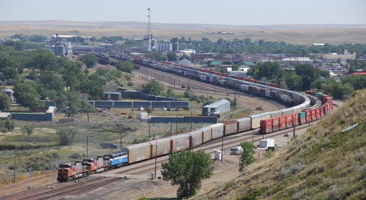 GN 441 leaves Havre, Montana