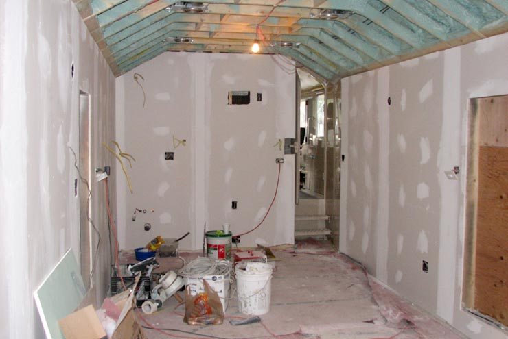 Drywall installed inside GN 441