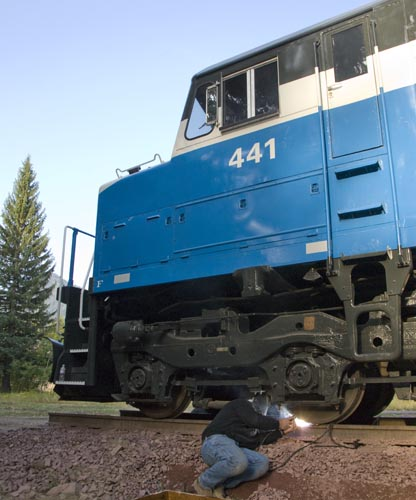 GN 441 is welded in place